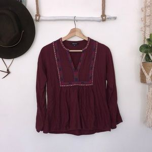 Madewell embroidered tunic size XS